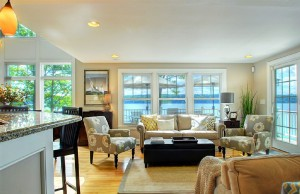 Enjoy the view of Skaneateles Lake from living room.