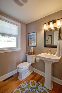Main level guest bathroom Skaneateles Lake.