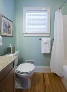 Main level full bathroom .