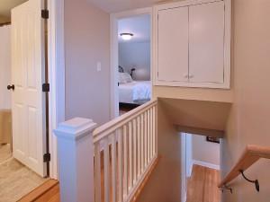 Upstairs hallway .