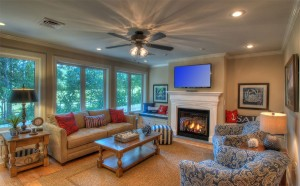 Enjoy the additional living room on the second level .