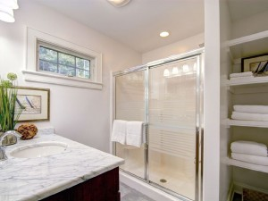 Guest bathroom on second level of Skaneateles Lake.