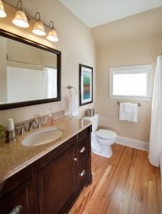 Additional second level full bathroom .
