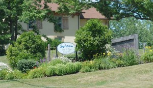 Right across the street from famed Mirbeau Inn and Spa .