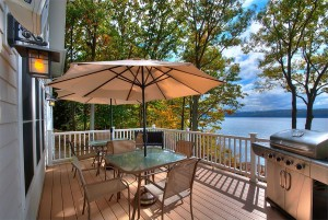 Enjoy a barbeque on the deck for 8 people  on Skaneateles Lake.