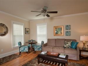 East side of living room .