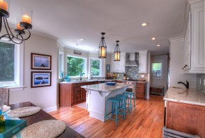 Brand new beautiful kitchen with granite countertops.