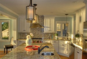 Enjoy the spacious kitchen .