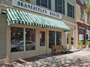 Enjoy homemade donuts at Skaneateles Bakery .