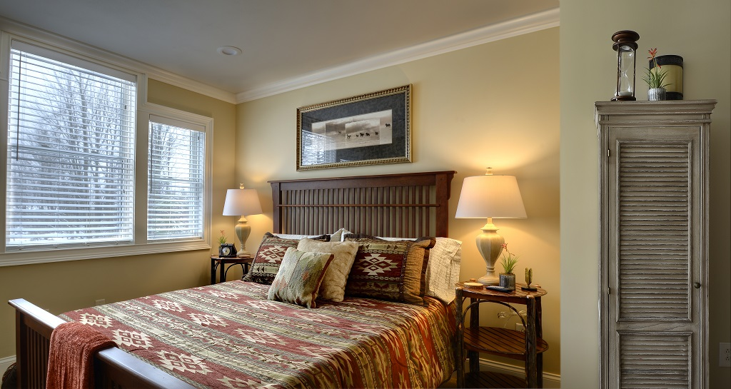 Beautiful second level guest bedroom