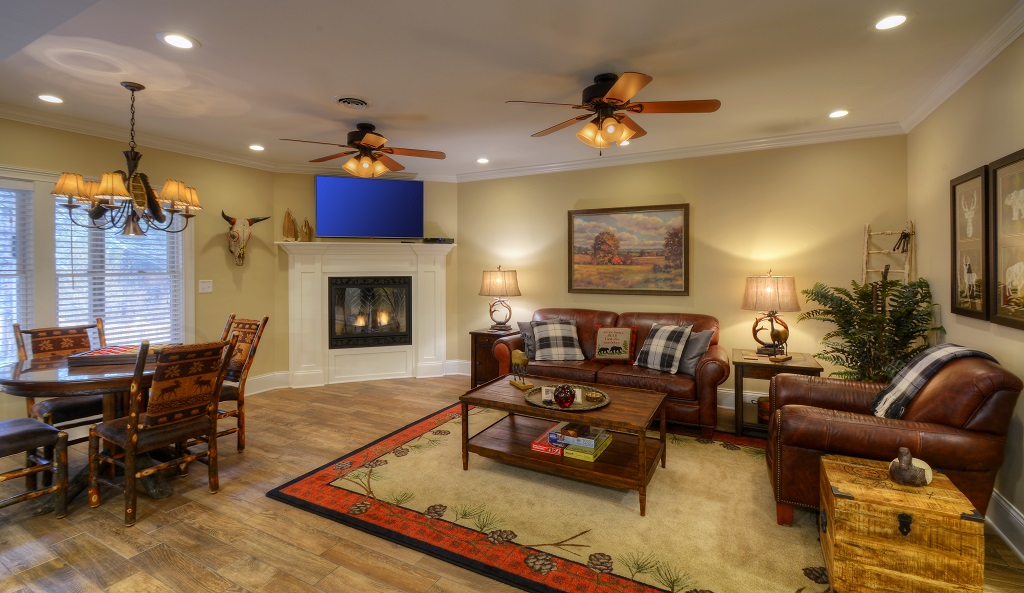 Lodge sophistication at its best! Relax and enjoy our lower level living room