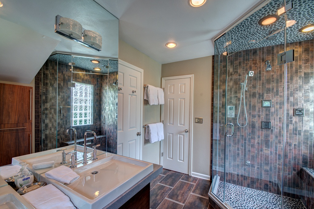 Master bathroom with steam shower