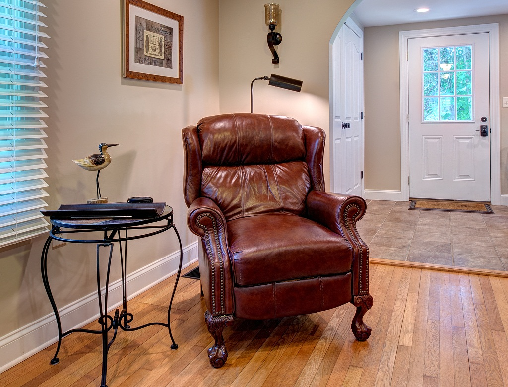 Cozy up and read a book in our comfortable recliner