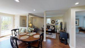 Beautiful open floor plan with radiant in-floor heat and main level master!
