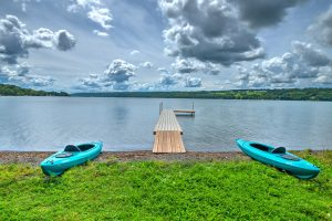 Beautiful, private and expansive lake front!