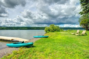 We have 4 kayaks and 2 paddle boards for your use!