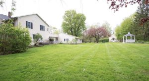 The home sits on over 3 private, beautiful acres